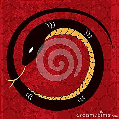 New Year Snake Design