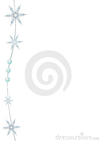 New-year snowflakes and beads.