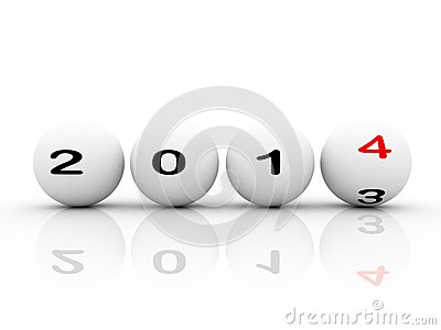 New year 2014 sphere