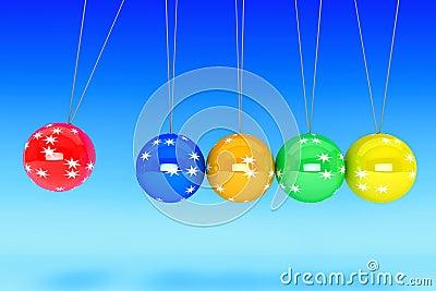 New Year Spheres of Newton