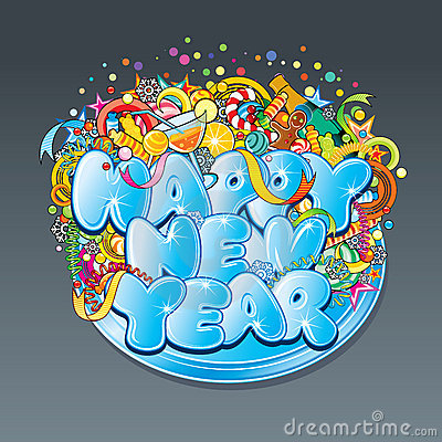 New Year Tag Stock Image - Image: 16880101