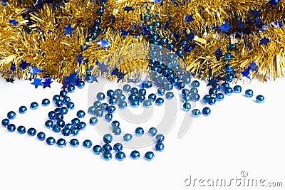 New Year tinsel balls Christmas decorations Stock Photo