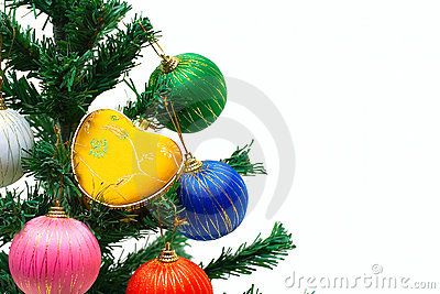 New year tree with decoration