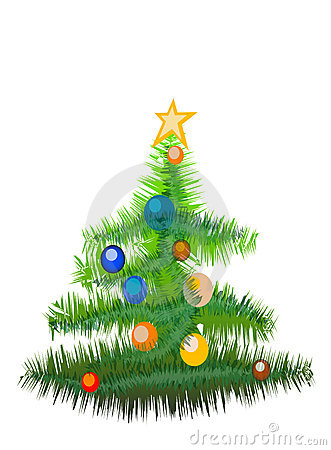 New Year tree(Great for banner and card)