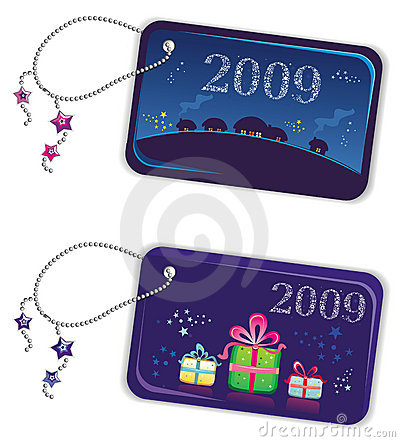 New year trinket tags 2009 2