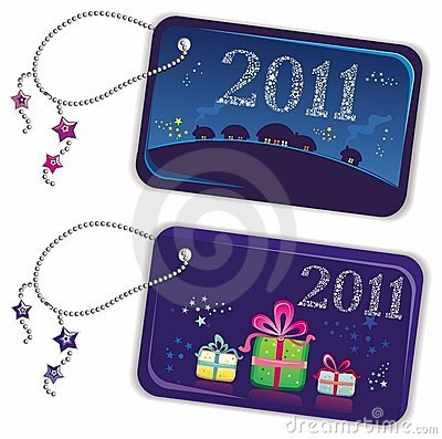 New year trinket tags 2011