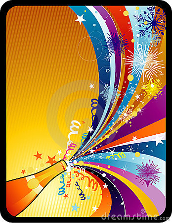 New year vector composition