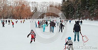 New Years Day Skating Editorial Image