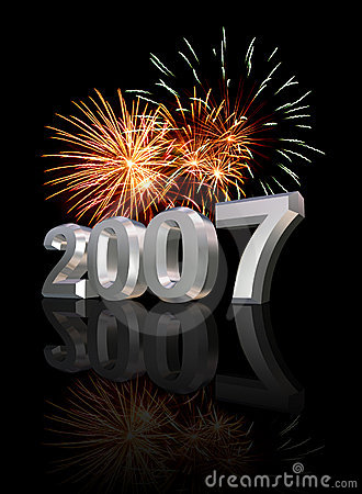 New Years Eve 2007 Stock Images Image 1538574