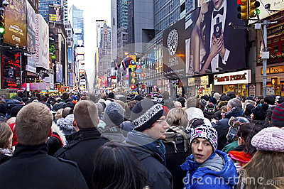 New Years Eve Crowd Times Square Editorial Photography