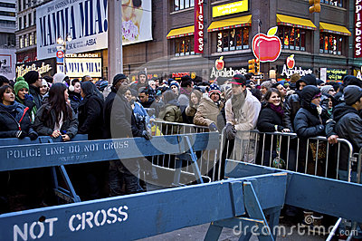 New Years Eve Crowd Times Square Editorial Stock Image