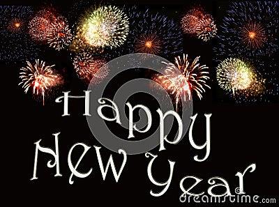 New years eve fireworks display motif