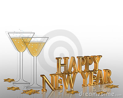New Years eve invitation Illustration