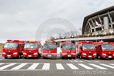 The New Years Fire Review Kanagawa, Japan Editorial Stock Photo