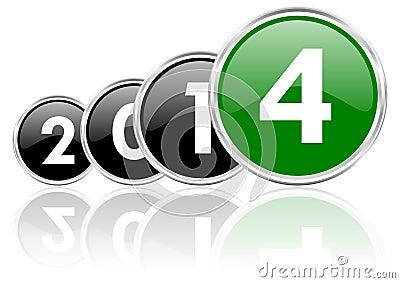 2014 new years illustration