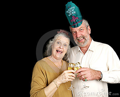 New Years Party Couple
