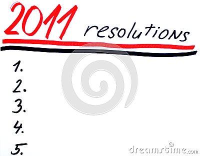 New years resolutins