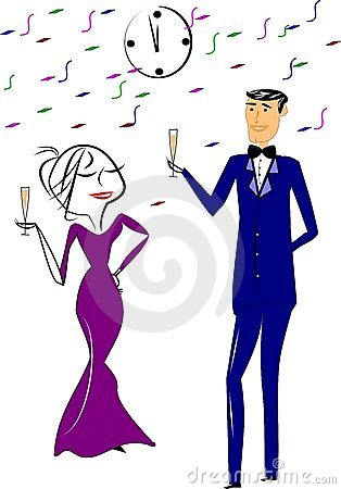 New years toast