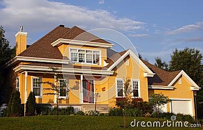 New yellow house