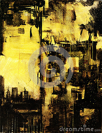 New York cityscape painting on canvas