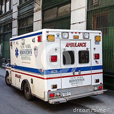 New York Ambulance Editorial Stock Photo