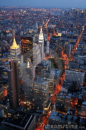 Free New York At Night Stock Photography - 5415772