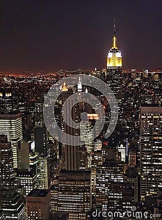 Free New York At Night Royalty Free Stock Photos - 702018