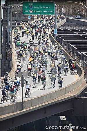 New York Bike Ride Editorial Photography