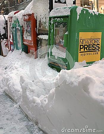 Blizzard of 2010 New York USA Editorial Photo