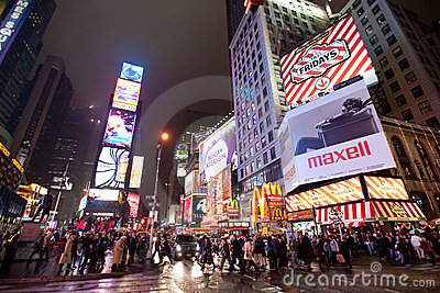New York , Broadway Editorial Stock Image