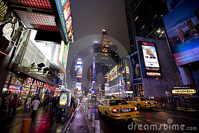 New York Broadway at night Editorial Photography
