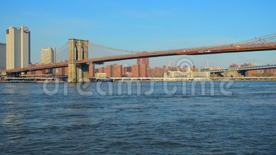 New York Brooklyn Bridge. Manhattan NYC. United States. stock footage