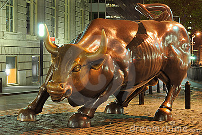 New York Bull Editorial Stock Photo