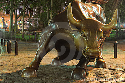 New York Bull Editorial Image