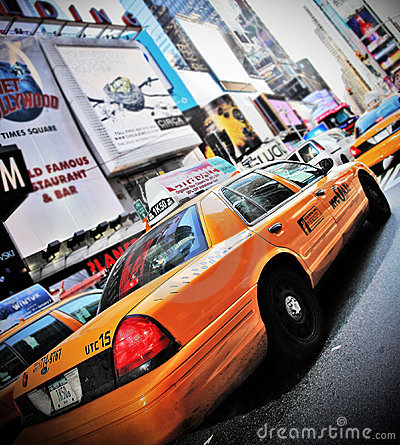 New York cab Editorial Photo