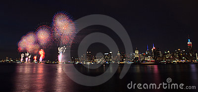 New York City - 4th of July Fireworks Editorial Stock Photo