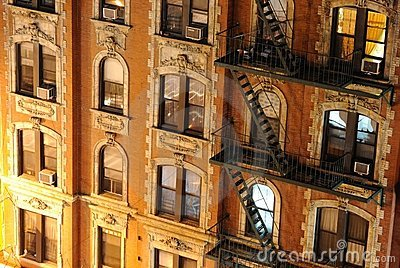 New york city buildings close up