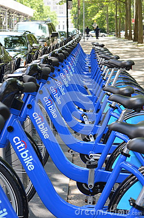New York City Bike Share Program Editorial Image