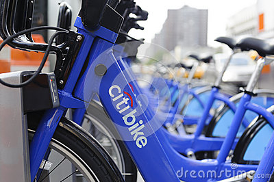 New York City bike sharing station Editorial Stock Photo