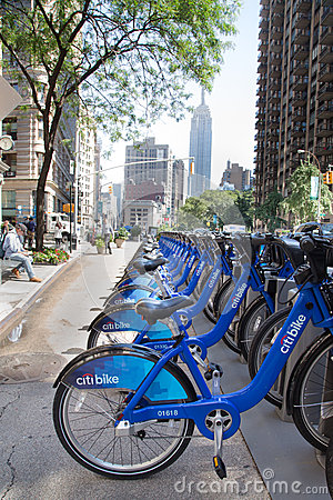 New York City Bikes Editorial Stock Photo