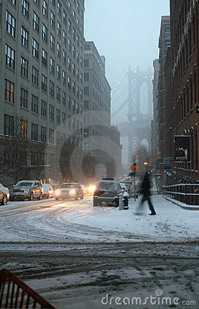 Blizzard of 2010 New York USA  Editorial Photography