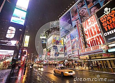New York  city Broadway Editorial Stock Image