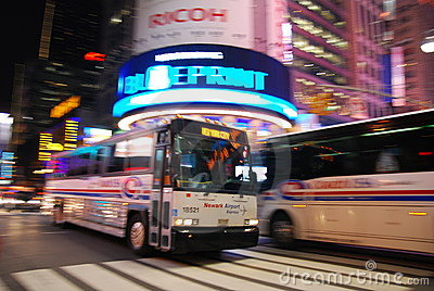 New York City bus Editorial Photo