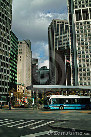 New York City Bus USA Editorial Stock Image
