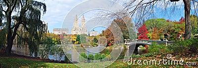 New York City Central Park Autumn panorama