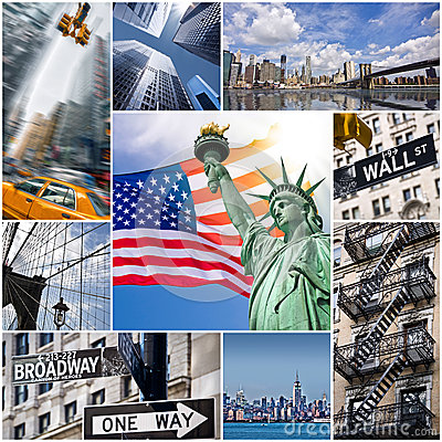 New York City Collage Stock Photo - Image: 50187346