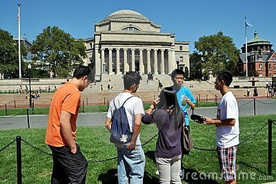 New York City: Columbia University Students Editorial Stock Photo