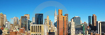 New York City Daytime Skyline Panoramic