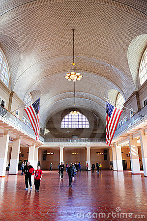New York City Ellis Island Great Hall Editorial Image