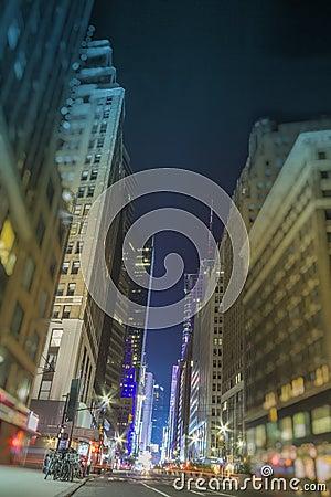 New York City Empty Street Tilt Shift